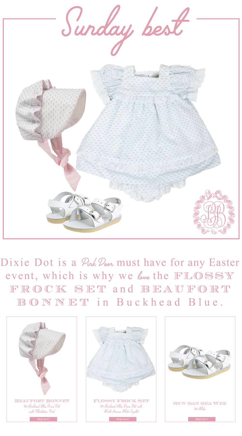 Easter Looks for Little Ladies: Flossy Frock Set with Beaufort Bonnet