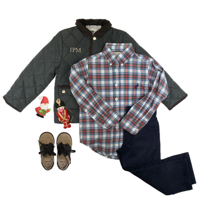 Dean's List Dress Shirt - Tillingham Tartan with Nantucket Navy Stork