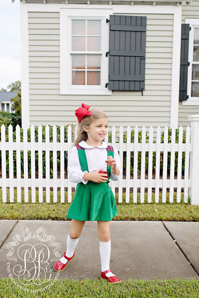 Pearl Prep Skirt (Corduroy) - Kiawah Kelly Green with Pelham Manor Plaid