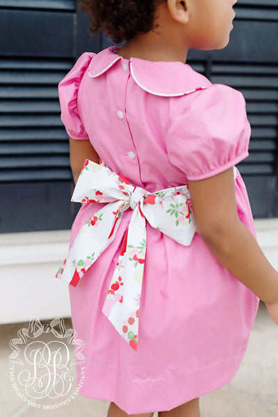 Cindy Lou Sash Dress - Hamptons Hot Pink with Party at Plymouth
