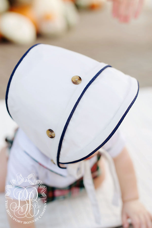 Barringer Bonnet Palmetto Pearl With Nantucket Navy