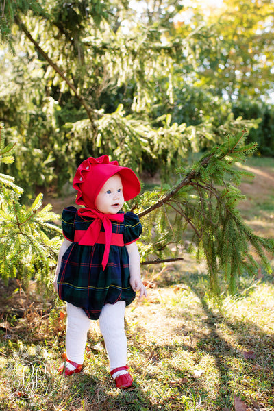Cindy Lou Bubble - Horse Trail Tartan with Richmond Red