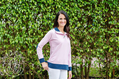 Pendleton Popped Collar (Ladies) - Hamptons Hot Pink with Nantucket Navy