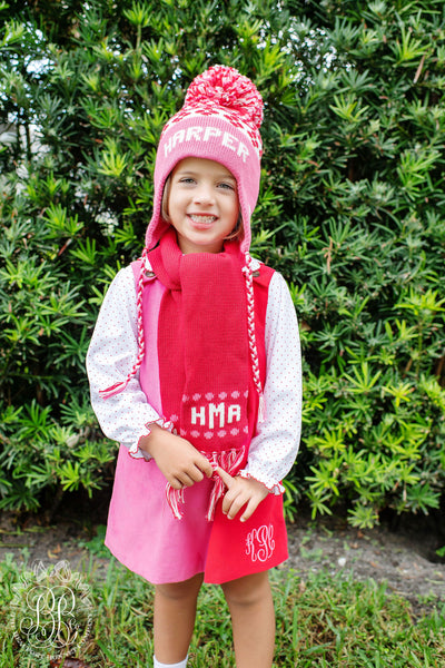 Parrish Pom Pom Hat - Richmond Red with Winter Park Pink and Palmetto Pearl