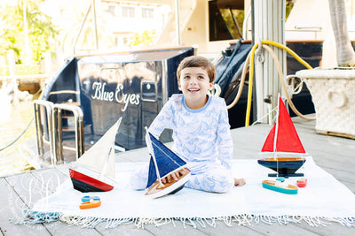 Sutton's Sweet Dream Set - St. Simon's Sailboat with Barbados Blue (unisex)