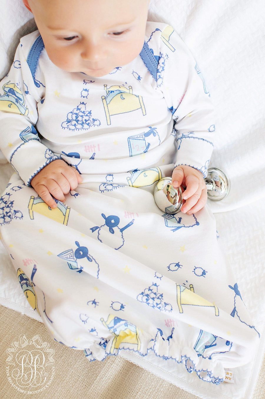 Adorable Everyday Gown - Counting Sheep with Park City Periwinkle