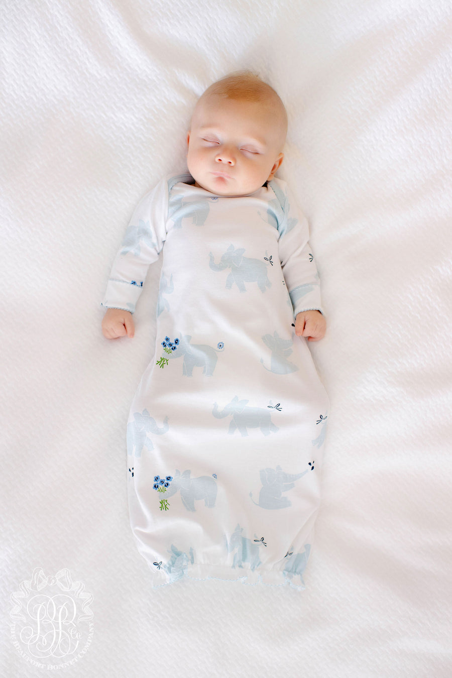 Adorable Everyday Gown - Precious Peanut with Buckhead Blue