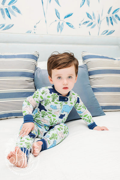 Sutton's Sweet Dream Set - Bal Harbour Hippo with Nantucket Navy (unisex)