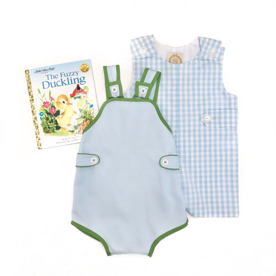 Skipper Sunsuit - Buckhead Blue with Grenada Green