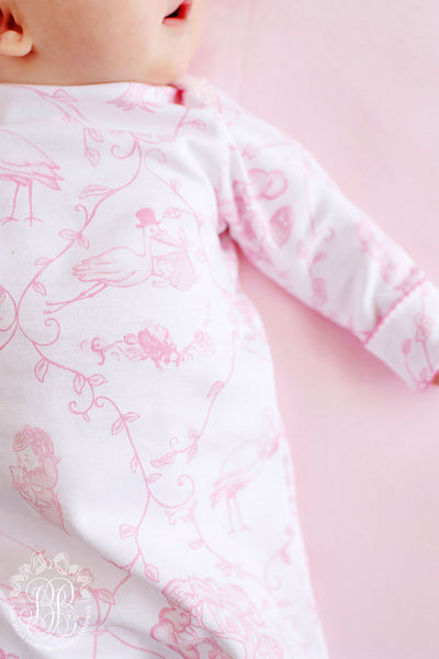 Adorable Everyday Set - Chinoiserie Charm with Hamptons Hot Pink and Palm Beach Pink Picot Trim