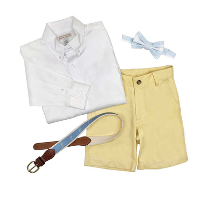 Charlie's Chinos - Seaside Sunny Yellow with Buckhead Blue Stork