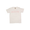 Short Sleeve Children's T-Shirt - Worth Avenue White with Pink