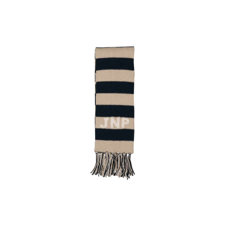 Frances Fringe Scarf - Keeneland Khaki with Palmetto Pearl and Nantucket Navy