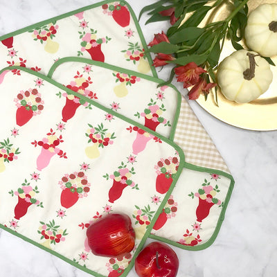 Set the Table Placemats - Party at Plymouth with Keeneland Khaki Gingham and Grenada Green