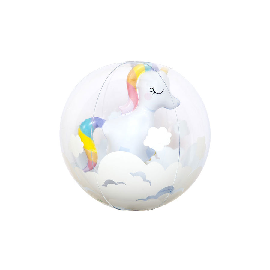 3D Inflatable Unicorn Beach Ball
