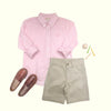 Dean's List Dress Shirt - Palm Beach Pink Windowpane with Palm Beach Pink Stork