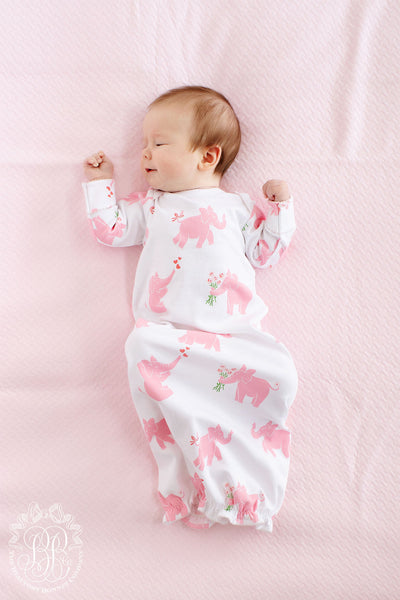 Adorable Everyday Gown - Precious Peanut with Plantation Pink