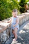 Sayre Sunsuit - Boardwalk Blue with Park City Periwinkle Stripe