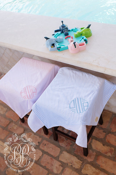 Bishop Bath & Beach Towel - Pinckney Pink Stripe