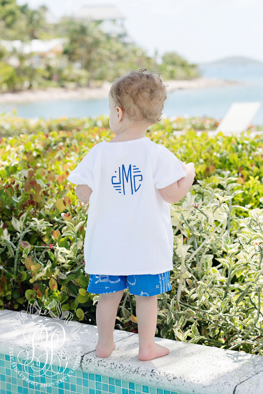 Yacht Club Cover Up - Worth Avenue White with Rockefeller Royal