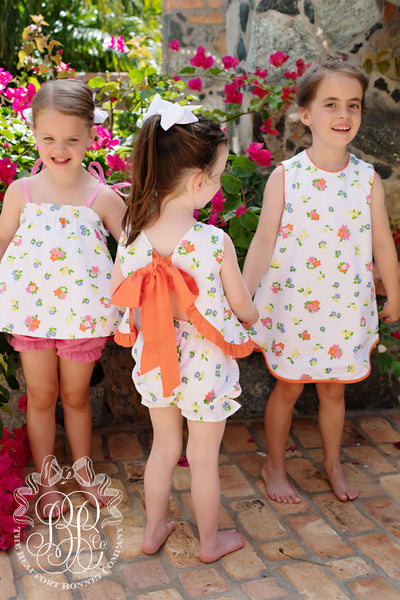 Annie Apron Dress - New Canaan Cluster with Tega Cay Tangerine