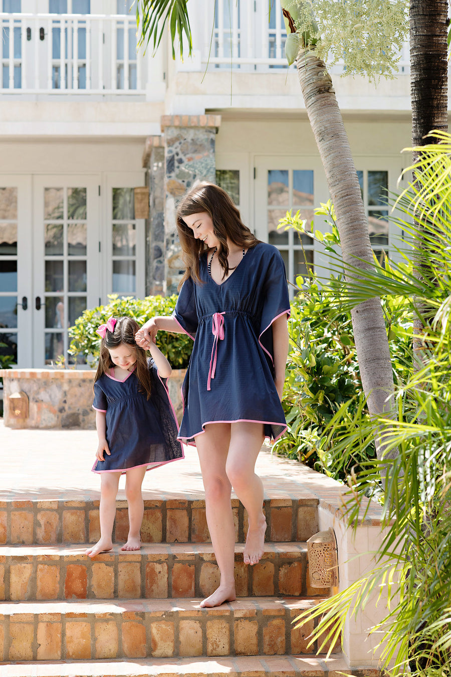Tipsy Tunic - Nantucket Navy with Hamptons Hot Pink