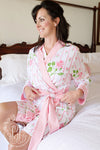 Ready or Not Robe (Ladies) - Ridgewood Rows with Sandpearl Pink