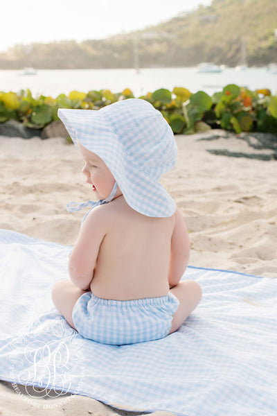 Sawyer Sun Hat - Buckhead Blue Gingham