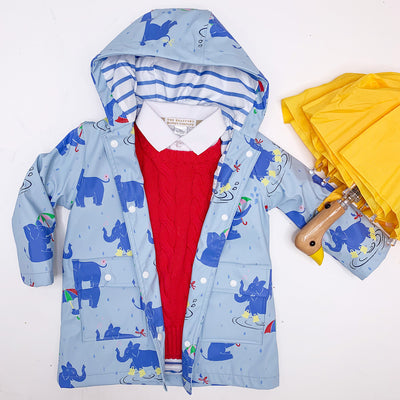 Liquid Sunshine Slicker - A Ton of Rain with Park City Periwinkle