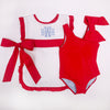 Brookhaven Bow Bathing Suit - Richmond Red