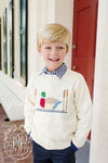 Isaac's Intarsia Sweater - Palmetto Pearl with Duck Intarsia