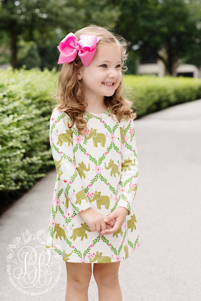 Long Sleeve Polly Play Dress - Highland Park Peanut