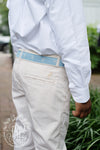 Prep School Pants - Keeneland Khaki and Worth Avenue White Stripe