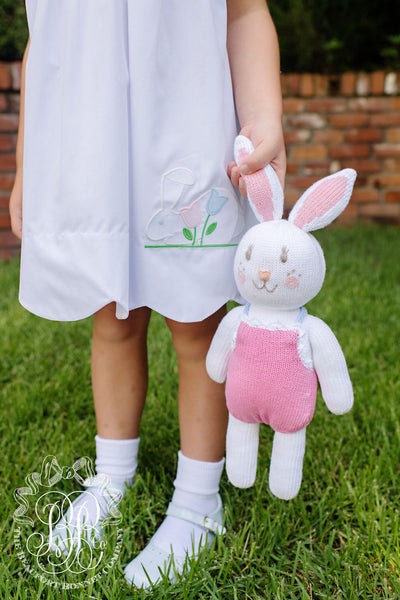 Daphne Dress - Worth Avenue White with Bunny Applique