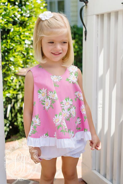 SLEEVELESS RUFFLED PLAY DRESS for your Suzy Cute Doll Pink Print