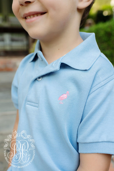 Prim & Proper Polo - Park City Periwinkle with Hamptons Hot Pink Stork