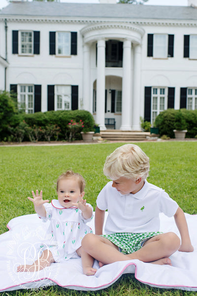 Shelton Shorts - Kiawah Kelly Green Gingham