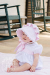 Bellefaire Bonnet - Plantation Pink with Worth Avenue White Eyelet