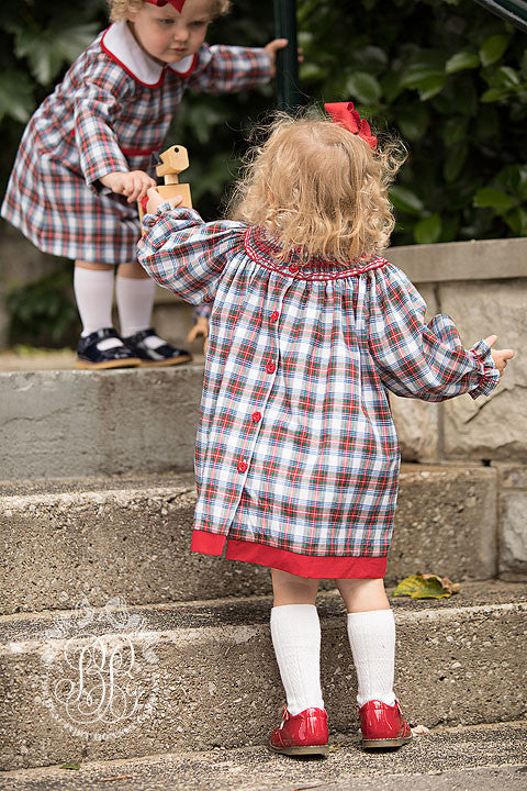 Dolly's Long Sleeve Sandy Smocked Dress - Tillingham Tartan