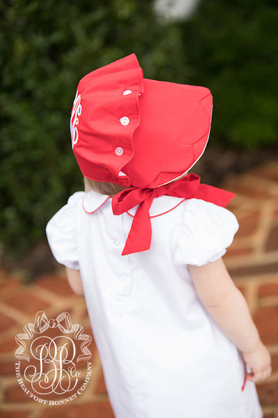 Birdie Bonnet - Richmond Red with Worth Avenue White