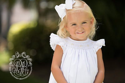 Bridget Bubble - Worth Avenue with Palmetto Pearl Smocking and Eyelet