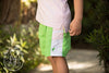 Vintage Volley Trunks - Lexington Lime with Palm Beach Pink
