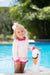 Wave Spotter Swim Shirt - Plantation Pink with Hamptons Hot Pink