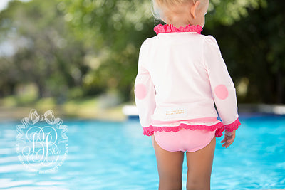 Wave Spotter Swim Set - Plantation Pink with Hamptons Hot Pink & Winter Park Pink