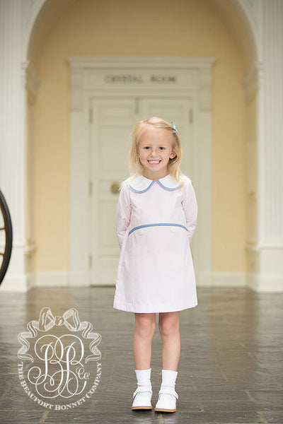 Lindy's Lunch Dress - Plantation Pink with Park City Periwinkle