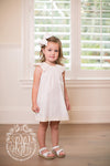 Opal Open Back Dress with Bloomers - Worth Avenue White with Palmetto Pearl