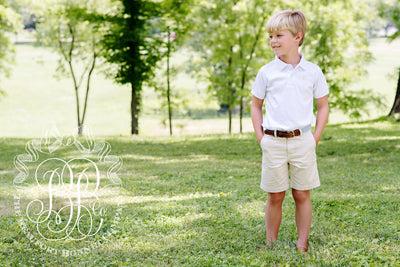 Prim & Proper Polo - Worth Avenue White with Multicolor Stork
