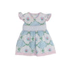 Addie Angel Sleeve Dress - Pashley Manor Petal with Smocking