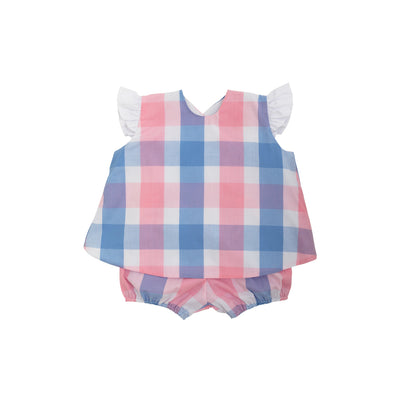 Alice Angel Sleeve Set - Charleston Charming Plaid with Worth Avenue White
