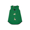 Annie Apron Dress - Kiawah Kelly Green with Quack, Quack, Honk Applique